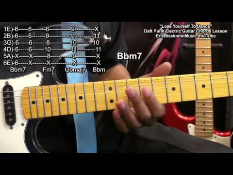 How To Play LOSE YOURSELF TO DANCE Daft Punk On Guitar Nile Rodgers EricBlackmonGuitar HD