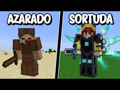 Minecraft: 13 MINUTOS DE JAZZGHOST TENDO AZAR E SENDO HUMILHADO PELA CHERRY!