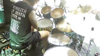 The Haunted My enemy drumcam Wacken