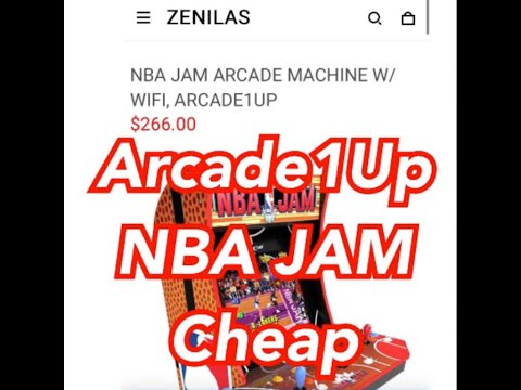Arcade1Up NBA JAM Selling Cheap On Zenilas Website Pac Man from rarecoolitems