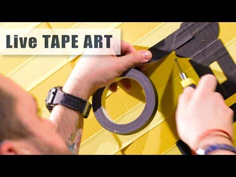 """Making of TAPE ART- """"Stuttgart Skyline"""" (How to create tape art)"""
