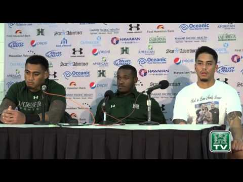Hawaii Football Post-Game Press Conference Players vs. San Jose St. 11-21-15