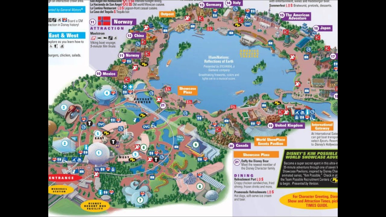 EPCOT Interactive Map YouTube