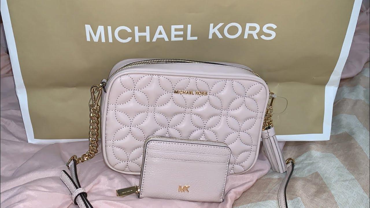 cd710d8ec MICHAEL KORS Quilted Floral Camera Bag Unboxing - YouTube