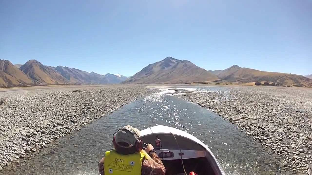 Jetboating the Godley river ,New Zealand