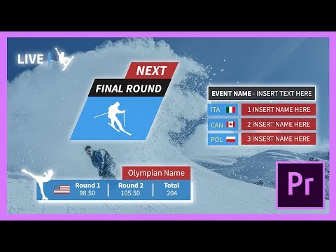 Sports  Olympic Animated Title Pack for Premiere Pro CC + Tutorial