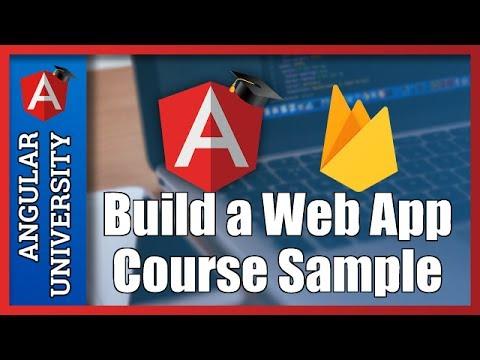 💥 Angular and Firebase 3 - Build a Web Application - 1h Course Sample
