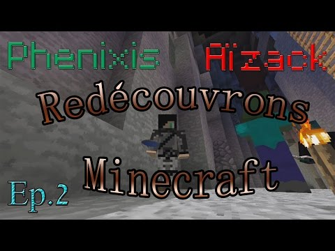 Redécouvrons Minecraft à deux ! - ep. 2 - village + faille = le bonheur d'Aizack