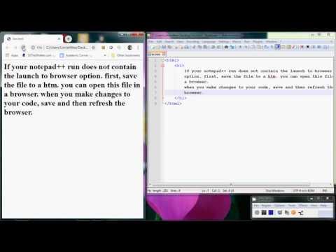 Notepad++ Run HTML File