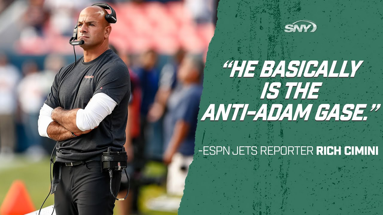 Here S Why New Jets Head Coach Robert Saleh Basically Is The Anti Adam Gase Sny Youtube