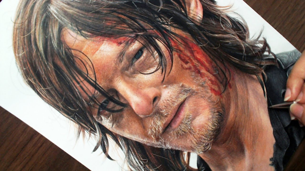 Desenhando O Daryl Dixon The Walking Dead Youtube