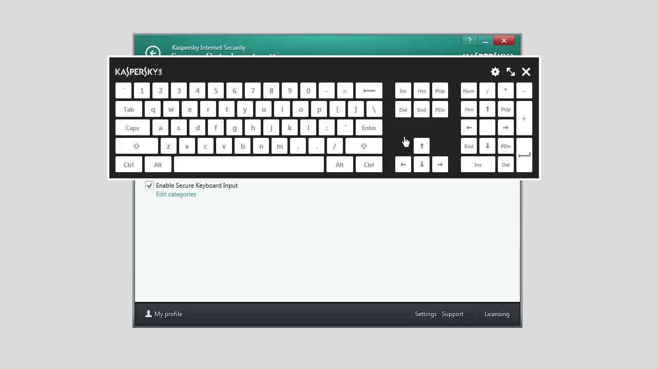 How to configure Virtual Keyboard in Kaspersky Internet Security 2014 - YouTube