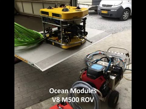 Underwater Cavitation Cleaning - Using Ocean Modules V8 M500 ROV