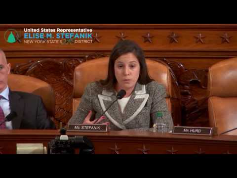 Congresswoman Stefanik Questions Witnesses at a House Intell