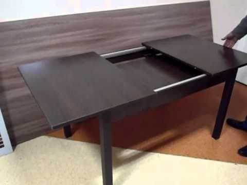 Работа механизма раздвижного стола - YouTube
