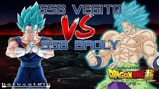 Dragon Ball Super: SSB Vegito Vs SSB Broly