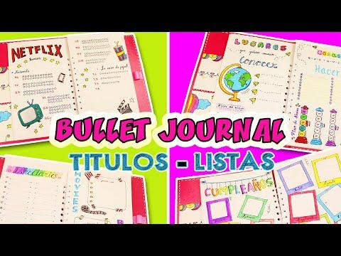 🌈-bullet-journal-2020-titulos-bonitos-y-listas---agenda-parte-2-✅- -manualidades-apasos 