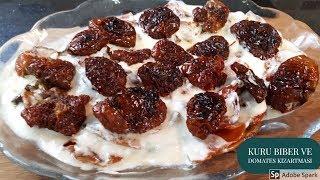 Yoğurtlu Kuru Biber ve Domates Kızartması - Hülya Ketenci - Yemek tarifleri