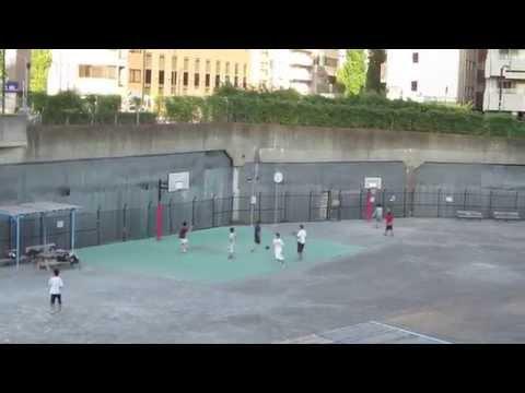 築地川公園 バスケットボール Basketball in Tsukijigawa park, Chuo-ku, Tokyo