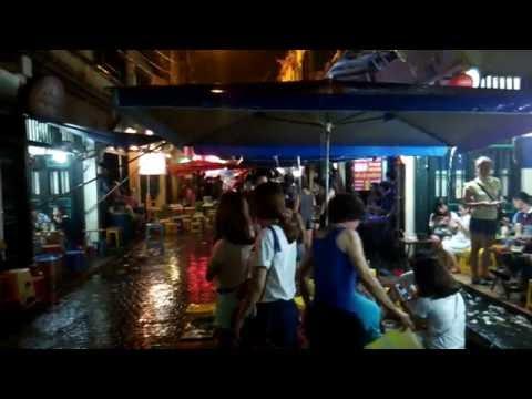 Hanoi Old Quarter - Beer Street - Raining - (河內老城酒吧街) 1