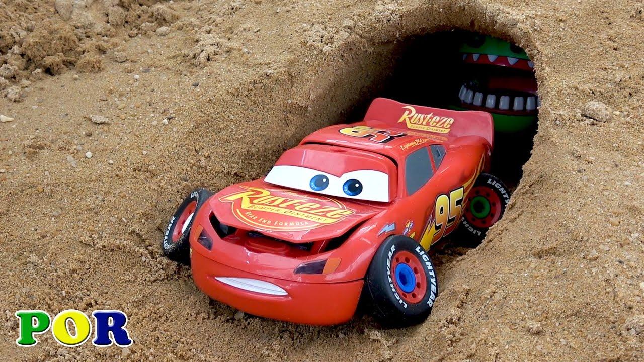 Montagem de Carros Relâmpago Mcqueen brinquedos para crianças