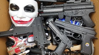 Big Box Full of Toy Guns !! Realistic Rifles Lighted Guns and Beaded Pistols