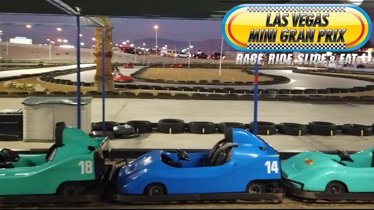 Family Fun at Las Vegas Mini Gran Prix Walk Thru 2019 - YouTube