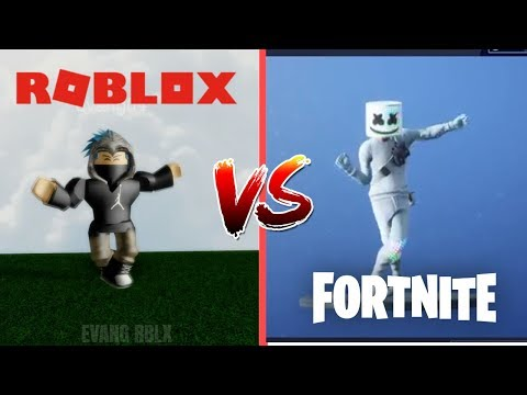 FORTNITE DANCES IN ROBLOX 2 (Roblox Vs Fortnite)