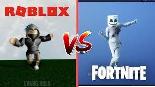 FORTNITE DANCES IN ROBLOX 2 (Roblox vs Fortnite)
