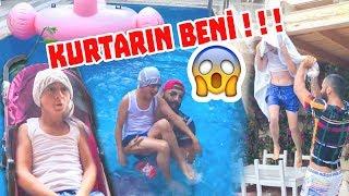 HAVUZDA BAŞIMA GELMEYEN KALMADI!! | KURTARIN BENİ! (Kamera Arkası)