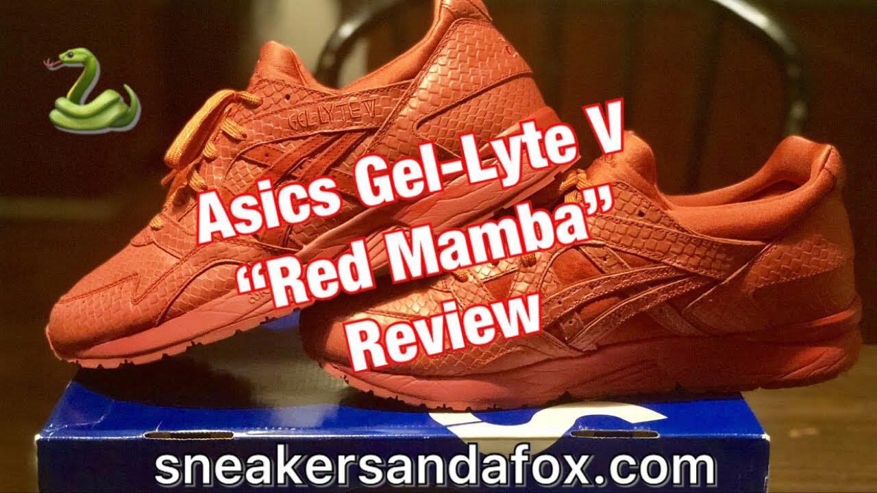 "semáforo Memoria Tratamiento Preferencial  Asics Gel-Lyte V ""Red Mamba"" Review - YouTube"