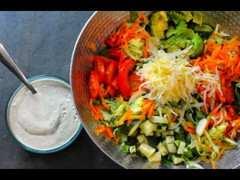 The BEST Raw Vegan Salad Dressing + My Favorite Salad RECIPE