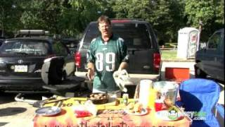 Cooking And Serving Tailgate Sausage And Peppers