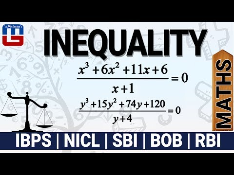 INEQUALITY | MATHS | SBI PO MAINS 2017