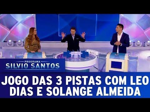 Jogo das 3 Pistas com Leo Dias e Solange Almeida | Programa Silvio Santos (19/11/17)