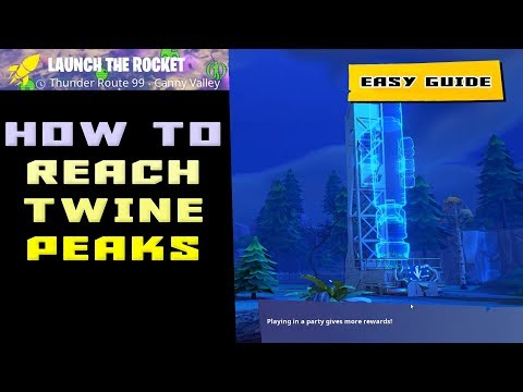 How To ESCAPE Canny Valley And Get To Twine Peaks In Fortnite - Launch The Rocket