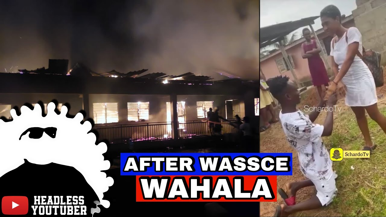 Download Students burn down school after WASSCE + Guy proposed to his SHS girlfriend