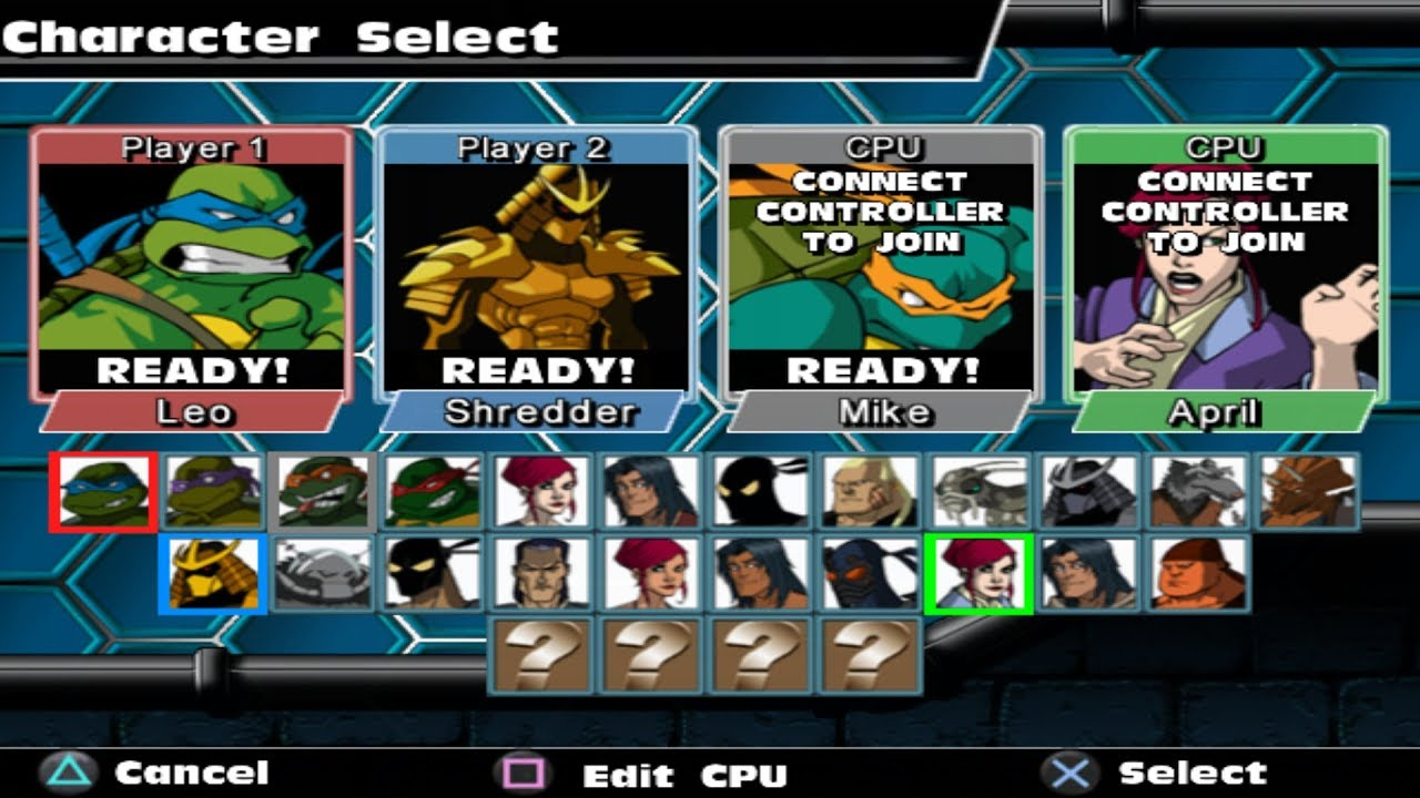 Teenage Mutant Ninja Turtles Mutant Melee All Characters Ps2 Youtube