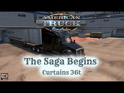 American Truck Simulator | The Saga Begins | Curtains (36t)
