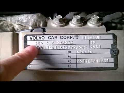 Where to find the model year, VIN and color code for Volvo 2001-2009 - YouTube