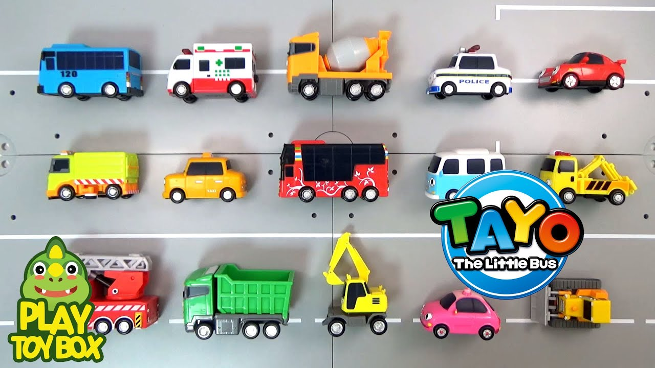 Learning Tayo Bus Friends Car Vehicle Names And Sounds For Kids -  signs of cars with names