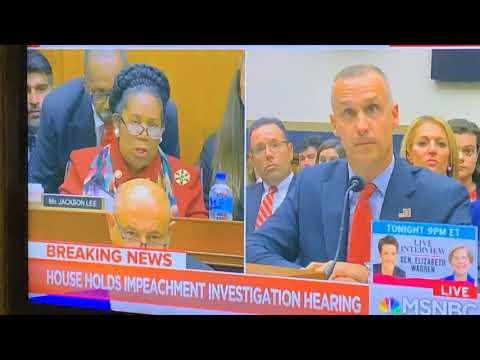 Corey Lewandowski Disrespects Shirley Jackson Lee At Impeachment Hearing