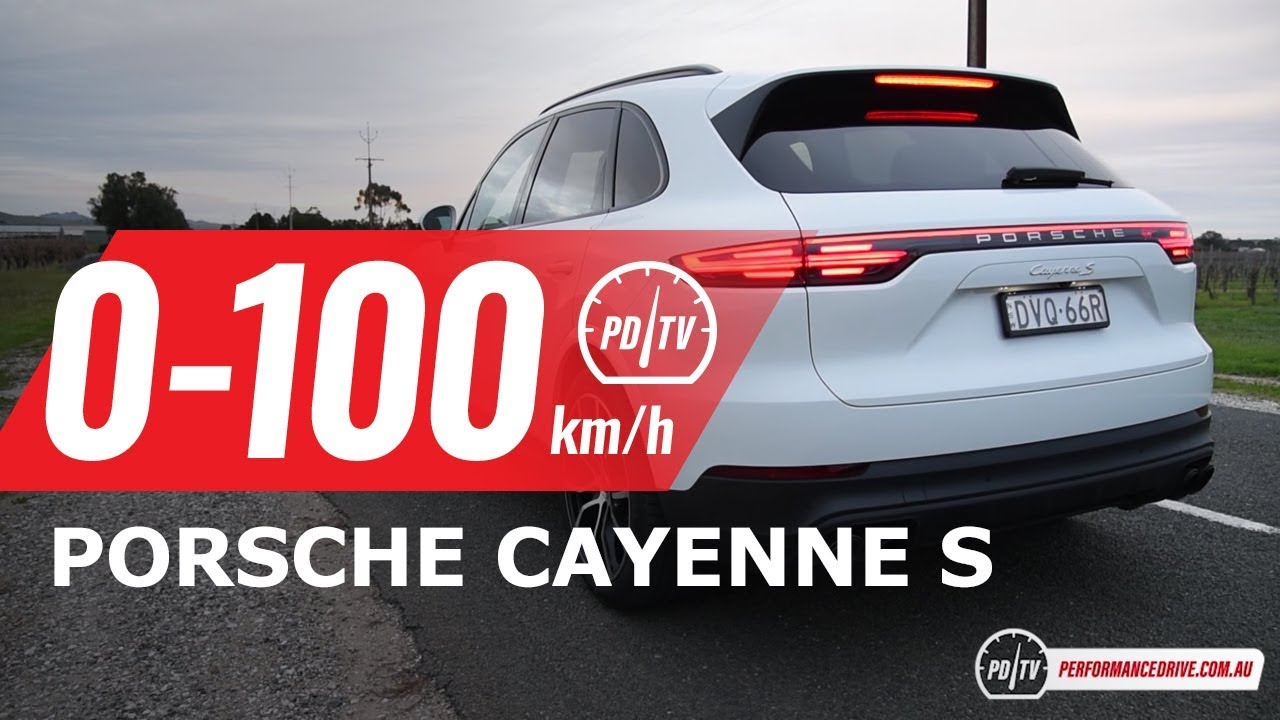 2018 Porsche Cayenne S (2 9TT V6) 0-100km/h & engine sound [short edit]