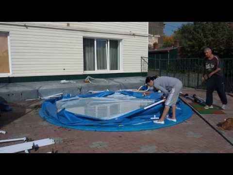 Как сложить каркасный бассейн обратно в коробку