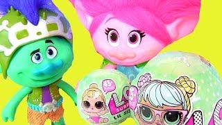 LOL Surprise Dolls Видео для Детей Baby Dolls Тролли Няньки для #Пупсиков! Trolls Мультик