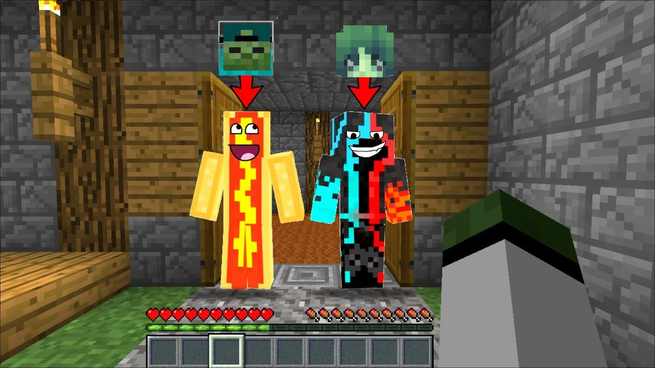 ZOMBIE FAMILY CHANGES THERE SKINS !! Minecraft !!