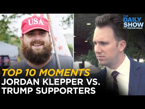 Jordan Klepper's Top 10 Moments with Trump Supporters | The Daily Show