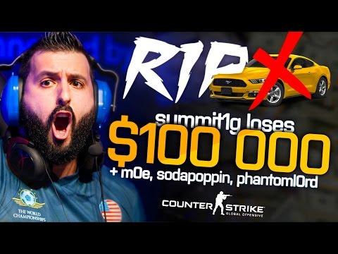 CS:GO | $100,000 LOSE BET! ('I'M GONNA THROW UP NOW...') ft. summit1g, PhantomL0rd, m0E_tv AMENO