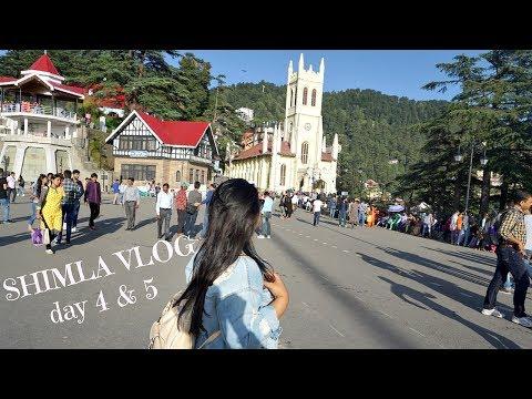 Shimla Day 4 & 5 | RIDGE, Mall Road, food, Timber Trail hotel, Shopping | VLOG 2017