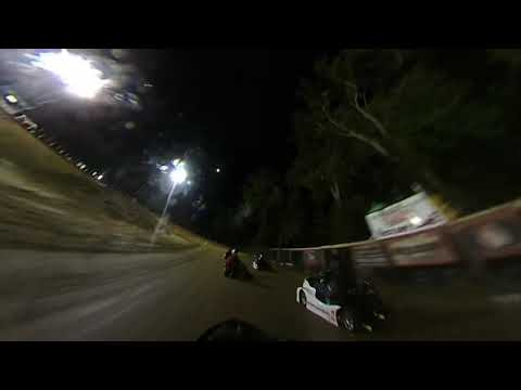 10/11/19 1st time racing kart. Karts on track was super heavy and adult rookie. - dirt track racing video image